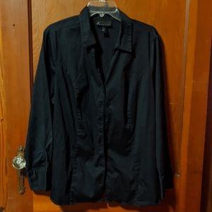 Lane Bryant plus size 22 black shirt